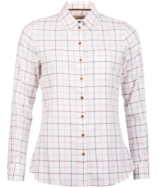 Women's Barbour Triplebar Shirt - Aster Pink Check