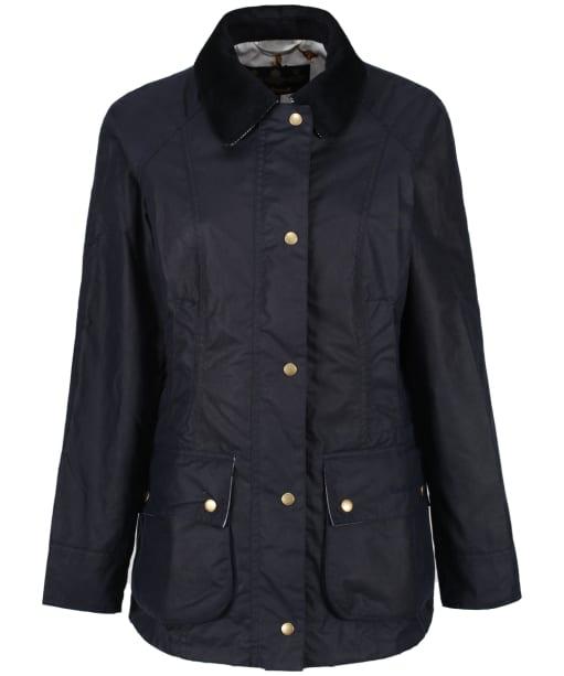 Women's Barbour Monteviot Wax Jacket - Royal Navy