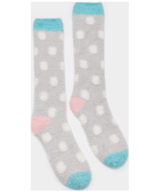 Women's Joules Fabulously Short Fluffy Socks - Silver