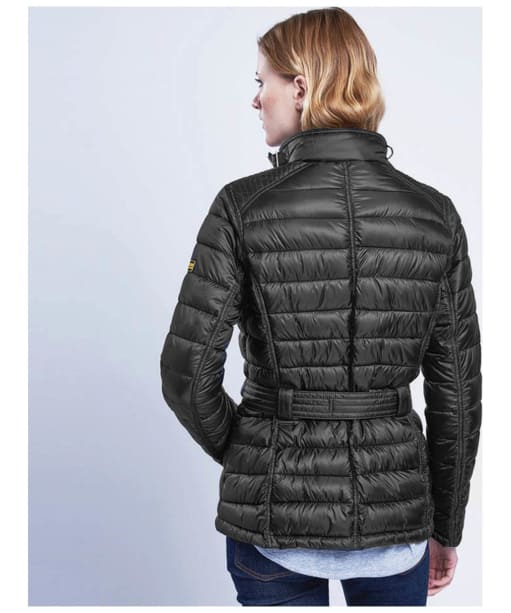 Women's Barbour International Cadwell Quilted Jacket - Black