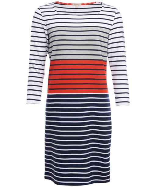 Pembrey Dress - White / Signal Orange