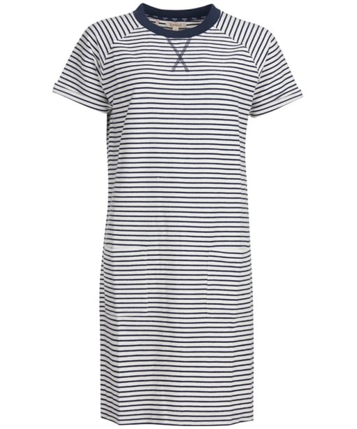 Women's Barbour Monreith Dress - White / Navy