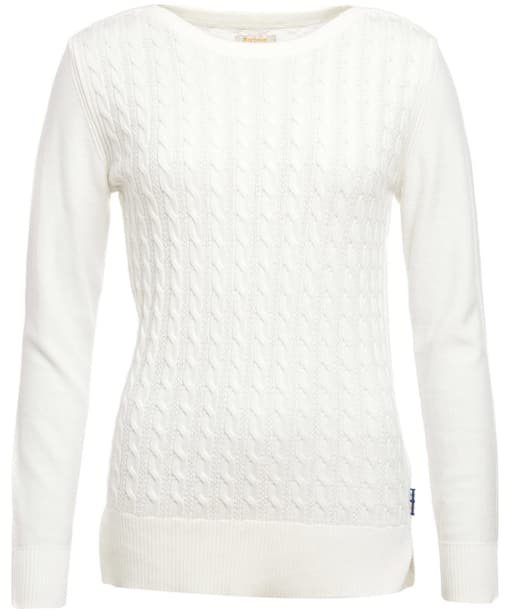Women's Barbour Prudhoe Knitted Sweater - Cloud