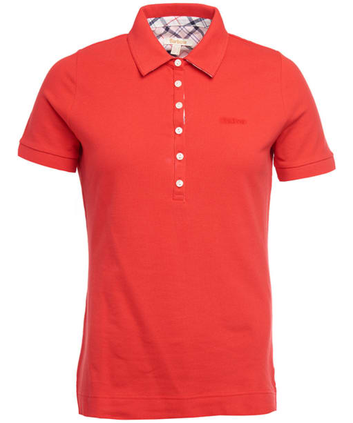 Women's Barbour Prudhoe Polo Shirt - Tartan Red