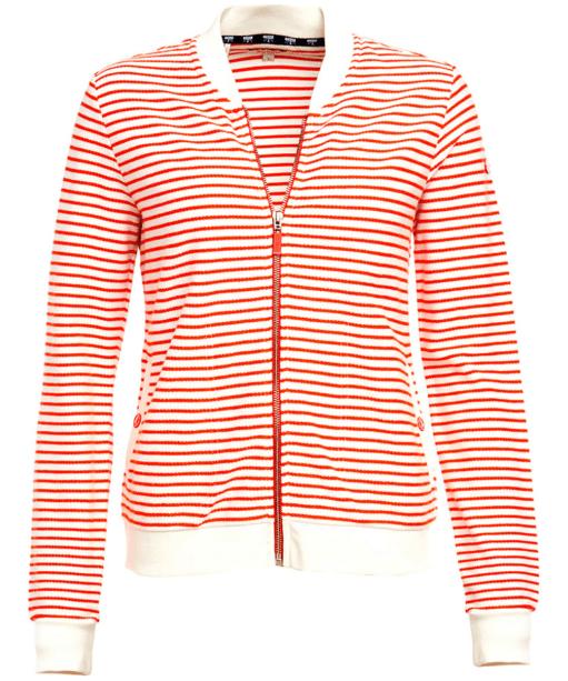 Women's Barbour Bamburgh Sweatshirt - White / Signal Orange
