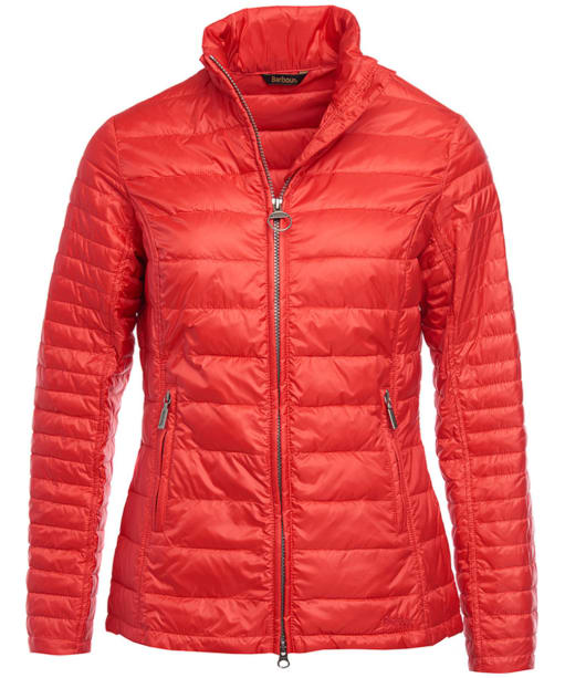 Women's Barbour Iona Quilted Jacket - Tartan Red