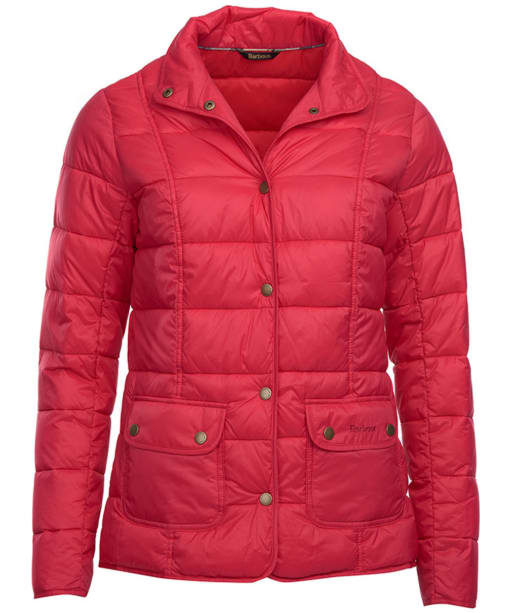 Women's Barbour Moorfoot Quilted Jacket - Raspberry Ripple