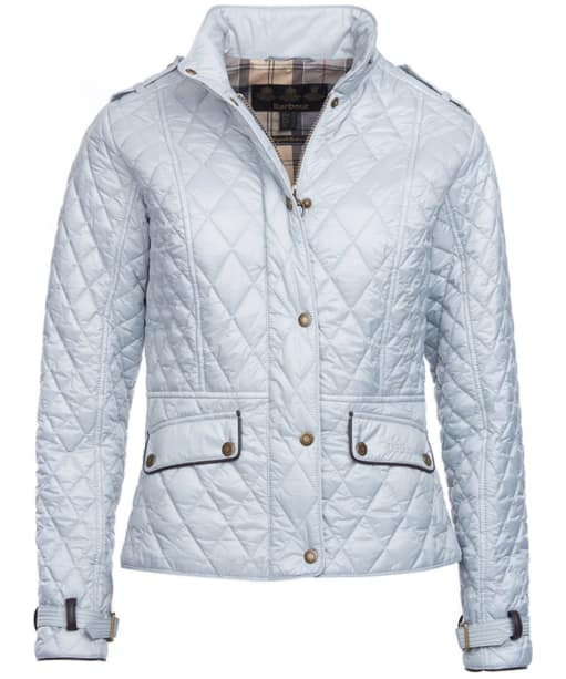Women's Barbour Haddington Quilted Jacket - Ice White