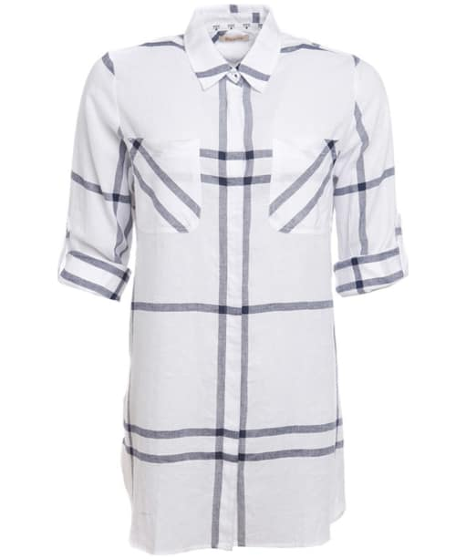 Women's Barbour Bamburgh Shirt - White / Navy