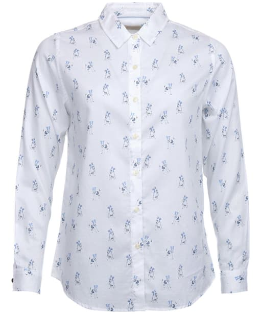 Women's Barbour Moorfoot Shirt - White / Blue Print