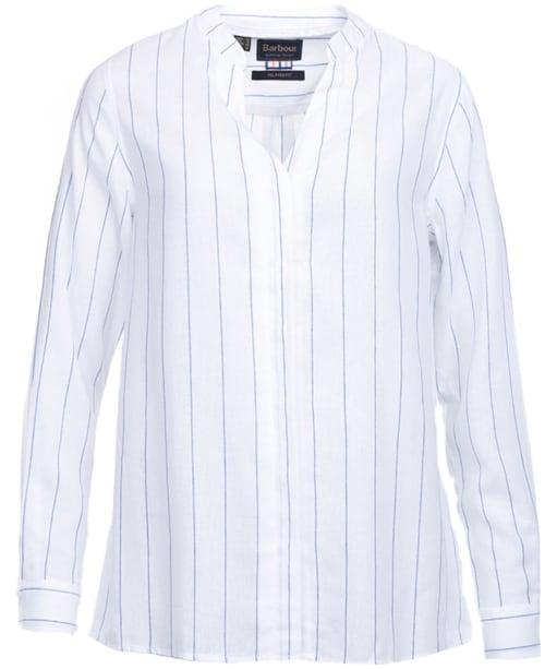 Women's Barbour Glenrothes Shirt - White / Marina Blue