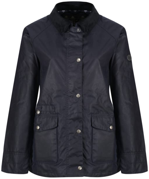 Women's Barbour Pembrey Wax Jacket - Royal Navy