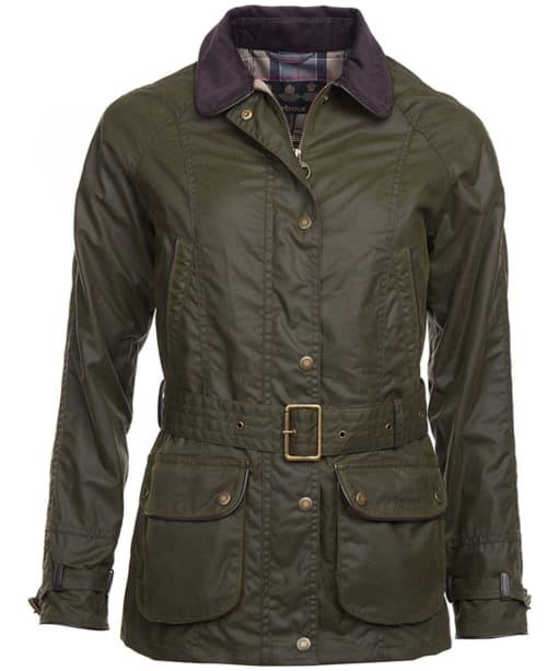 Women's Barbour Wester Wax Jacket - Archive Olive