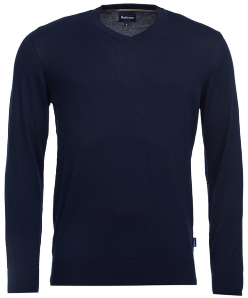 Men's Barbour Clyde V Neck Sweater - Navy