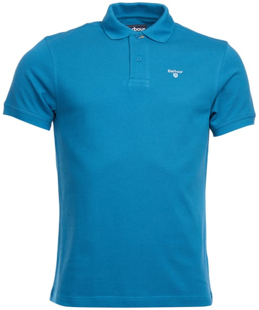 Men's Barbour Sports Polo 215G - Blue Steel