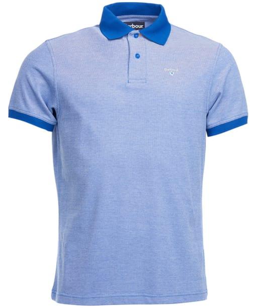 Men's Barbour Sports Polo Mix Shirt - Electric Blue