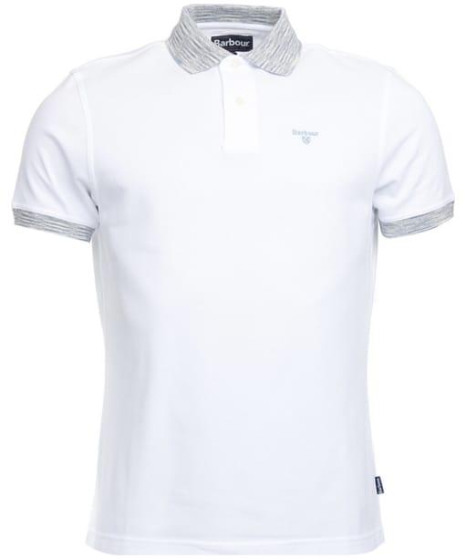 Men's Barbour Abbey Contrast Polo Shirt - White