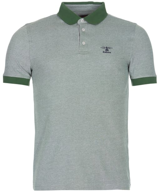 Men's Barbour Peak Mix Polo Shirt - Racing Green