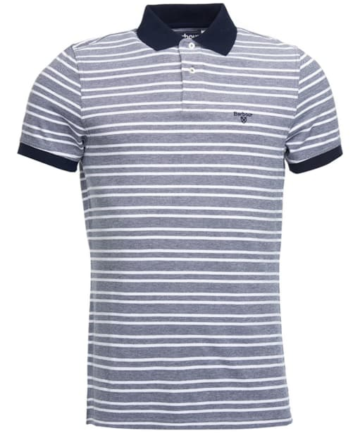 Men's Barbour Bedford Stripe Polo Shirt - Midnight