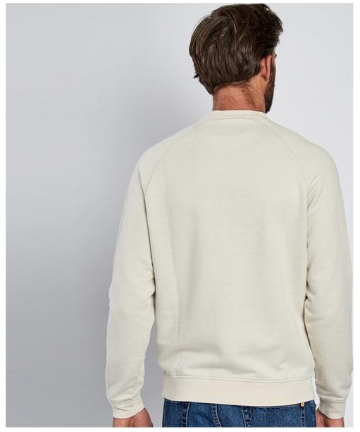 Men's Barbour Steve McQueen Stencil Crew Sweatshirt - Back