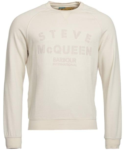 Men's Barbour Steve McQueen Stencil Crew Sweatshirt - Pearl