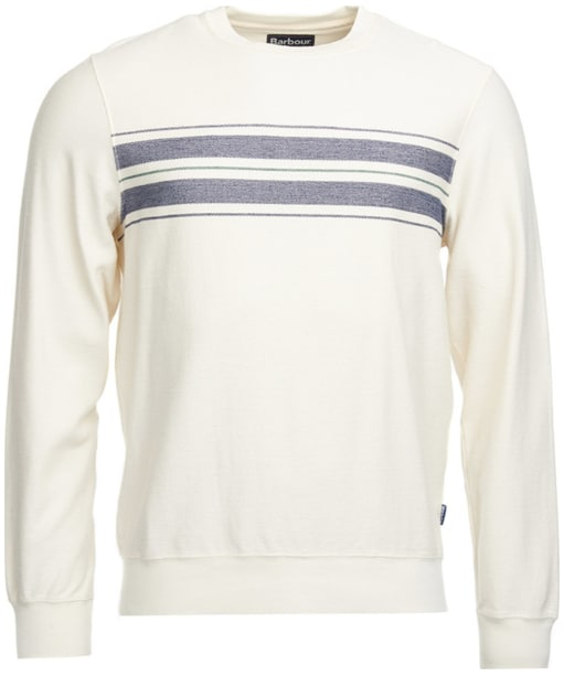 Men's Barbour Zander Crew Neck Sweater - Whisper White