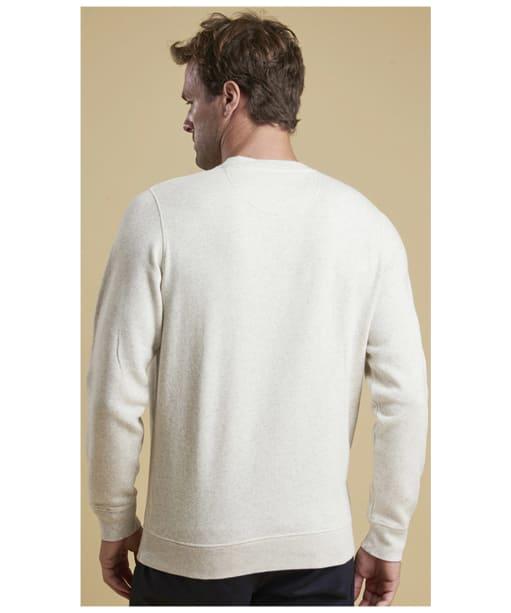 Men's Barbour Prep Logo Crew Neck Sweater - Ecru Marl