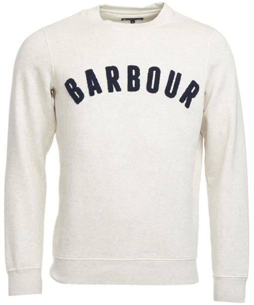 Men's Barbour Prep Logo Crew Neck Sweater - Ecru Marl