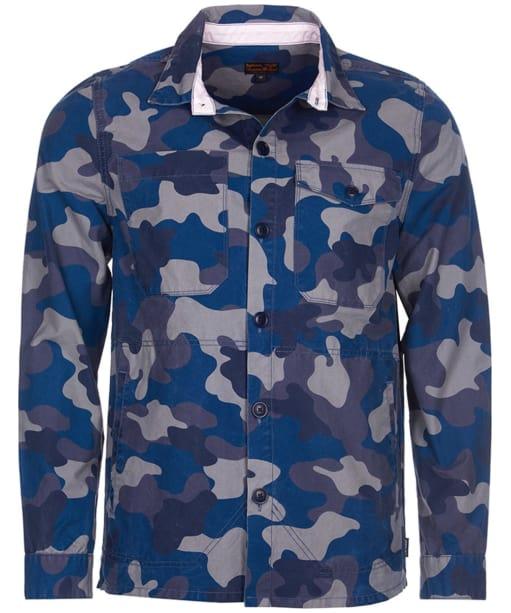 Men's Barbour Camo Button Through Overshirt - Navy