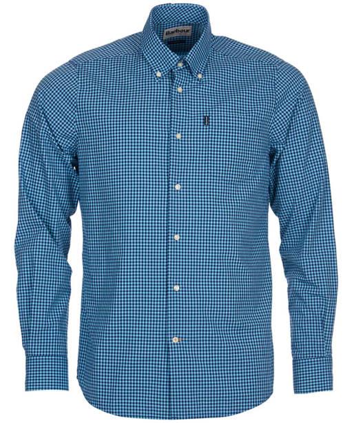 Men's Barbour Leonard Shirt Tailored Fit - Mid Blue