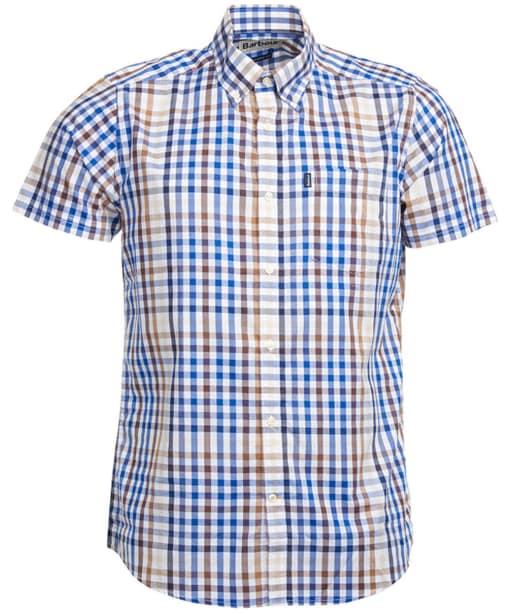Men's Barbour Russell Short Sleeve Shirt - Sandstone Check