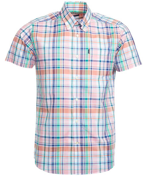 Men's Barbour Gerald Short Sleeved Check Shirt - Pink Check