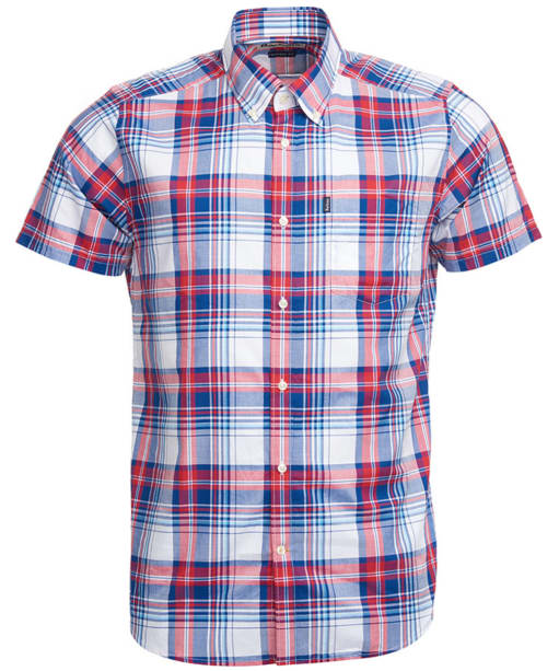 Men's Barbour Gerald Short Sleeved Check Shirt - Red Check