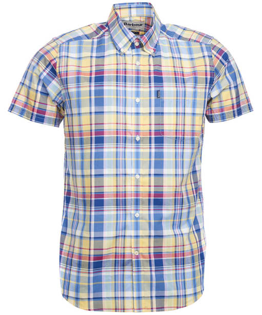 Men's Barbour Gerald Short Sleeved Check Shirt - Yellow Check