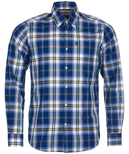 Men's Barbour Jeff Tailored Fit Shirt - Deep Blue Check