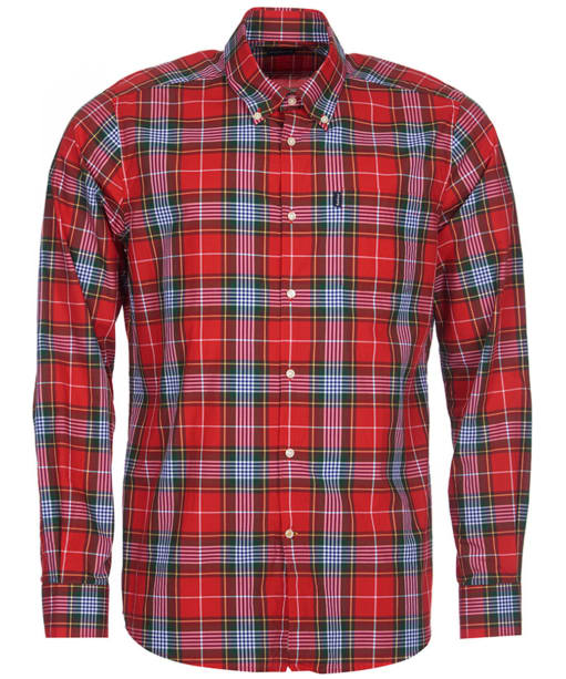 Men's Barbour Oscar Check Shirt - Red Check