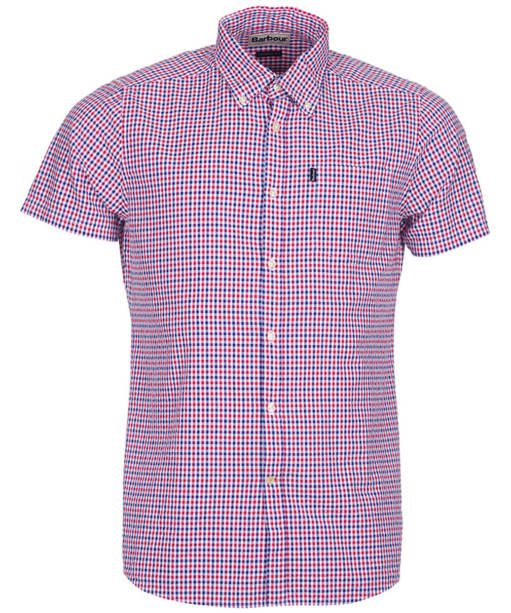 Men's Barbour Newton Short Sleeved Tailored Fit Shirt - Navy