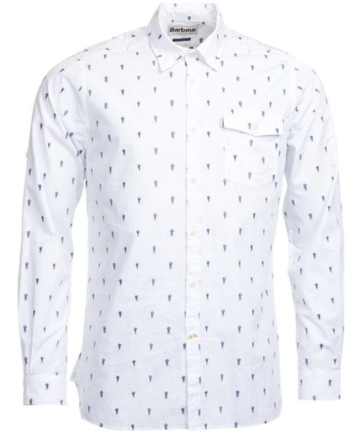 Men's Barbour Jellyfish Shirt - White