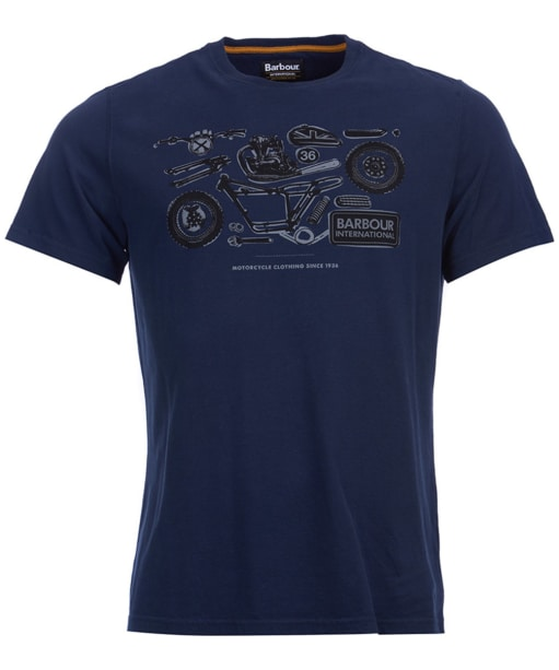 Men's Barbour International Mechanical Tee - Navy