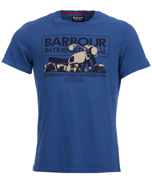 Mens Barbour International Hydron Tee - North Sea Blue