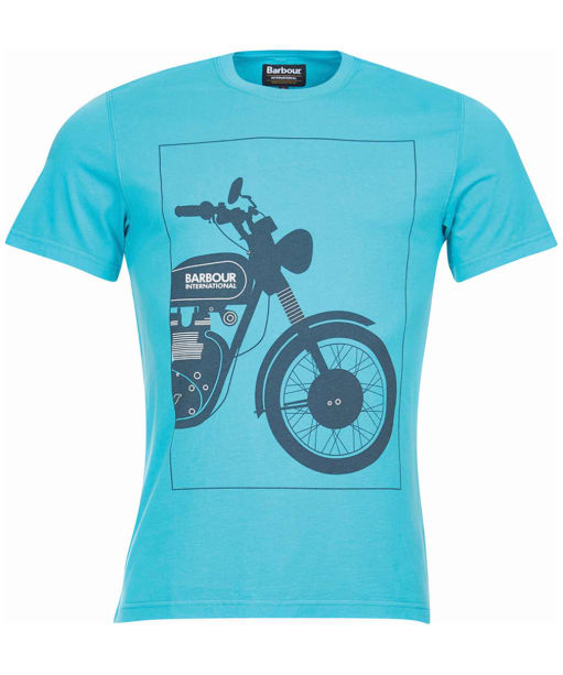 Men's Barbour International Block Tee - Turquoise