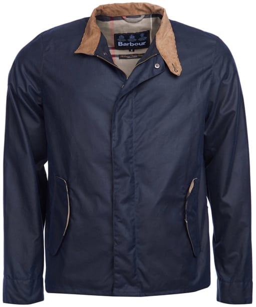 Men's Barbour Belnun Wax Jacket - Royal Navy
