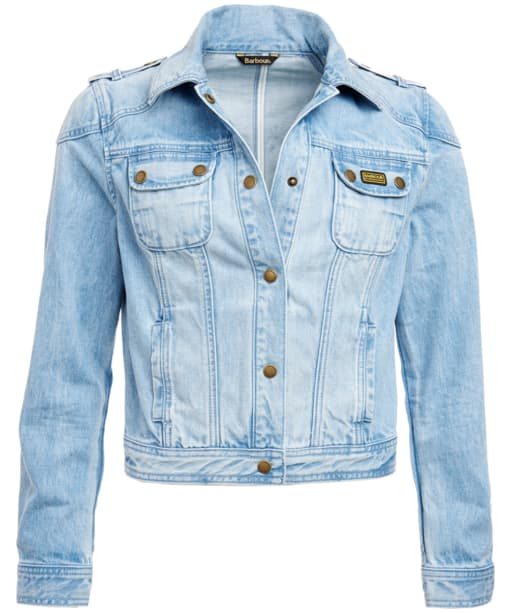 Women's Barbour International Durness Denim Jacket - Bleached