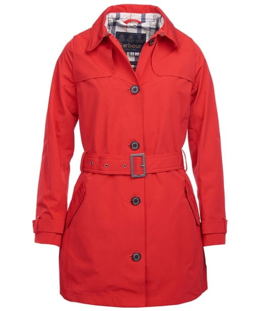 Women's Barbour Thornhill Waterproof Jacket  - Tartan Red