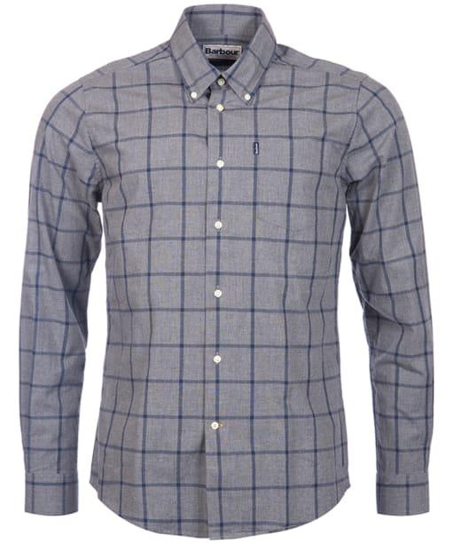 Men's Barbour Baxter Check Shirt - Grey Marl Check