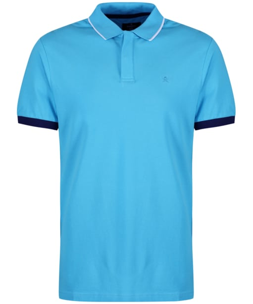 Men's Hackett Contrast Cuff Polo - Turquoise