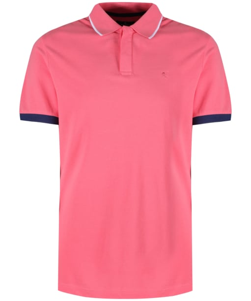 Men's Hackett Contrast Cuff Polo - Coral