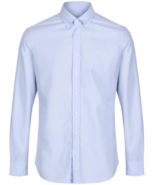 Men's Hackett Garment Dye Delave Logo Shirt - Baby Blue