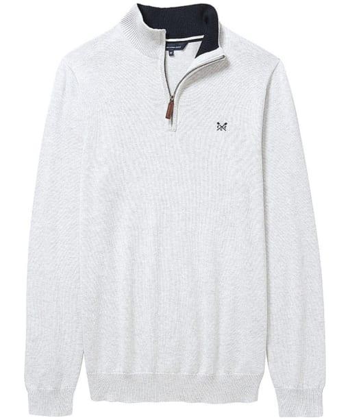 Men's Crew Clothing Classic Half Zip Sweater - Ice Grey Marl