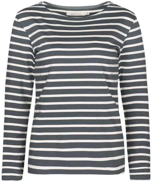 Women's Seasalt Sailor Shirt - Breton Lead Ecru